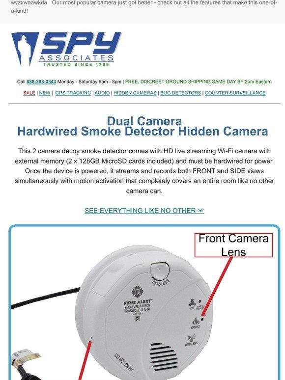 Spyassociates Com New Dual Smoke Detector Camera Does What No