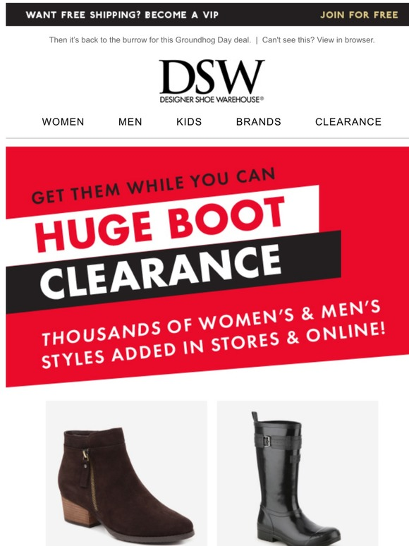 DSW: Final call: Save big on clearance