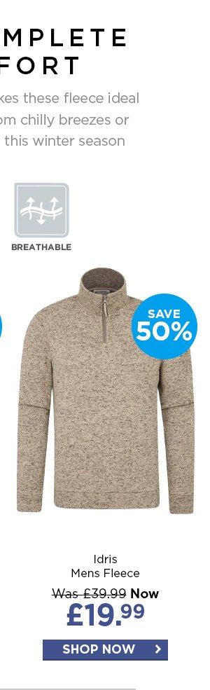 Warm Winter Pullover Mountain Warehouse Idris Mens Full Zip Fleece