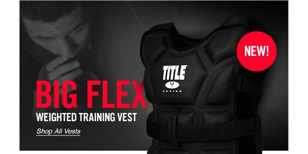 Black Title Boxing Big Flex Weighted Training Vest
