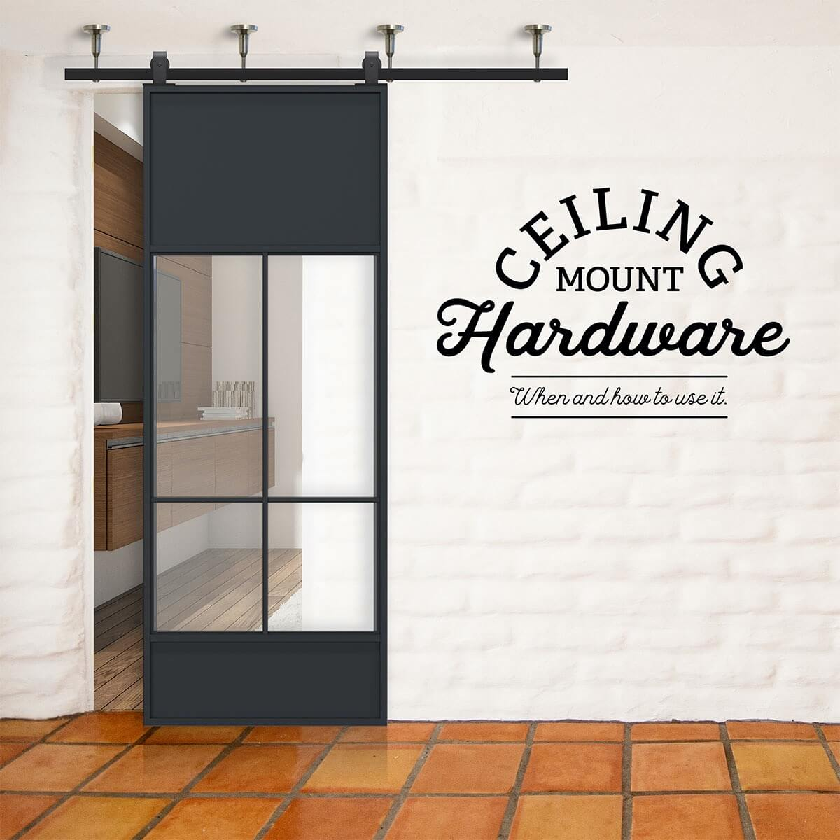 Rustica Hardware When How To Use Ceiling Mount Barn Door Hardware Milled