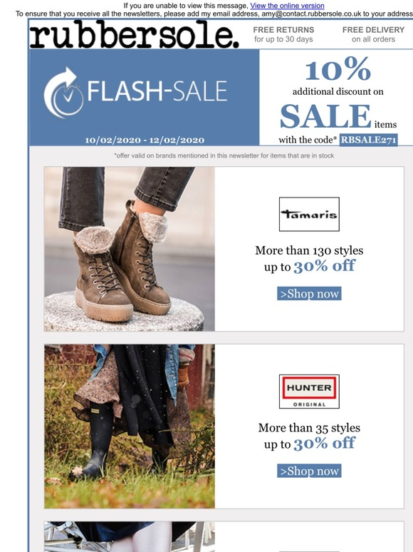 Rubber Sole: SALES: 60% off and a