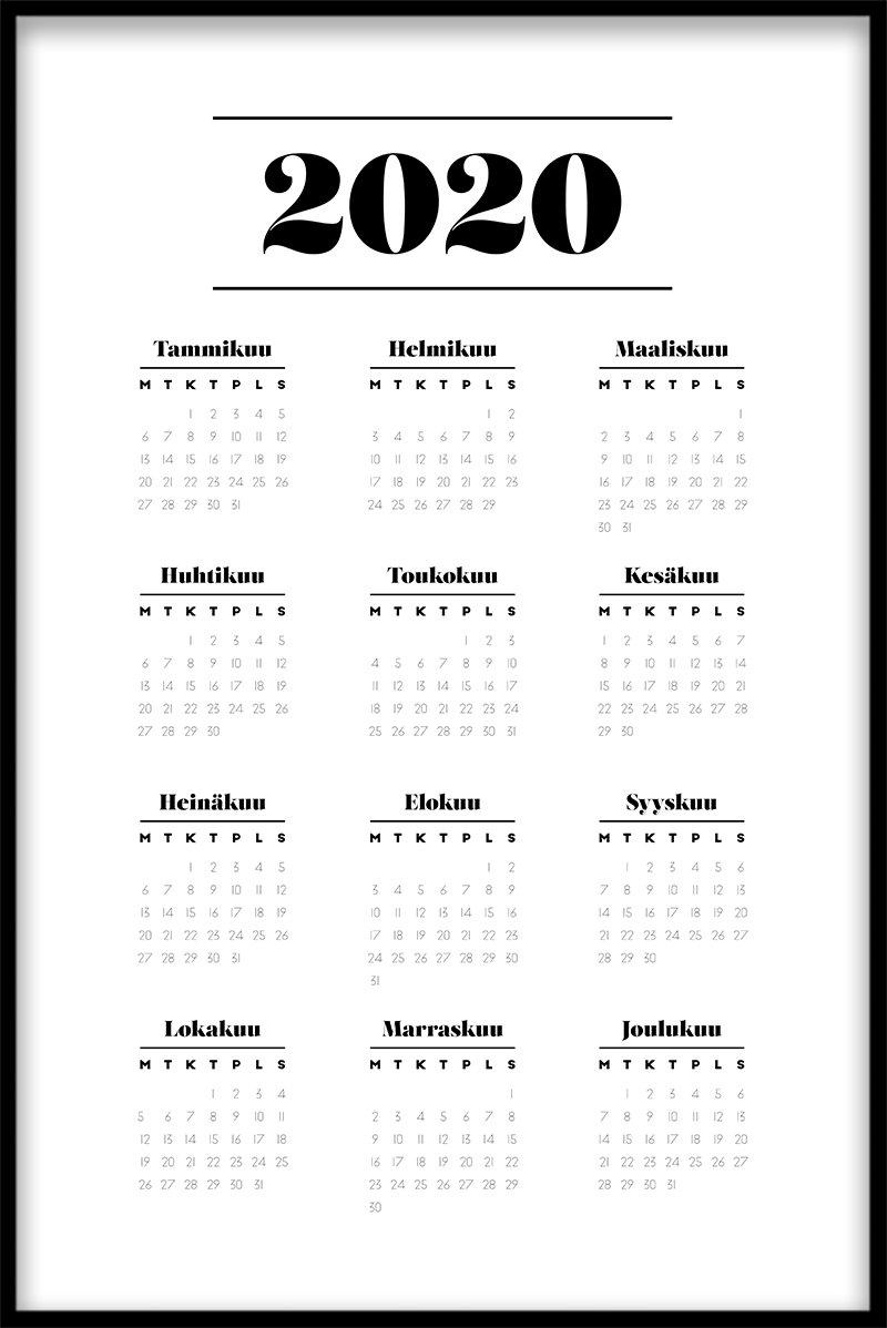 Kalenteri heinäkuu 2020