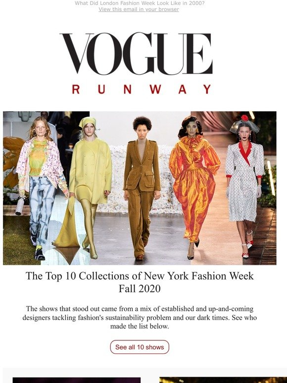 Vogue The Top 10 Collections Of New York Fashion Week Fall 2020 Milled