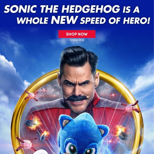 Build A Bear Gotta Go Fast Sonic The Hedgehog Is Here Milled