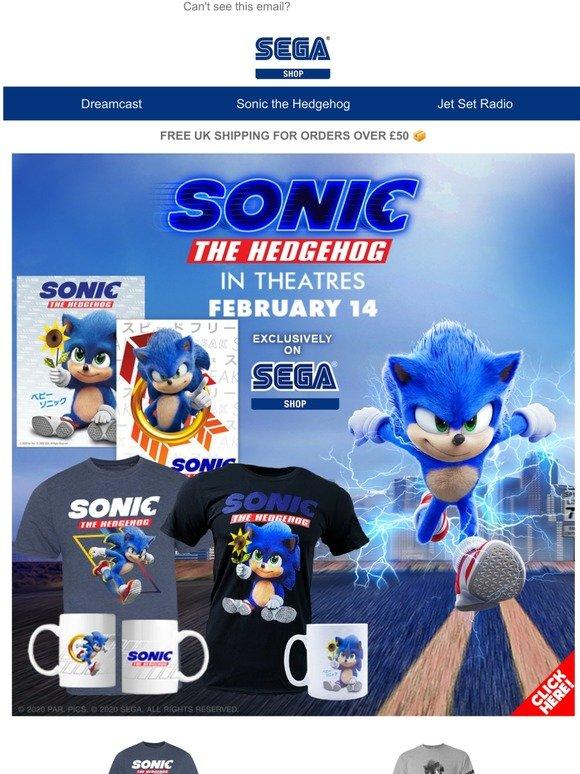 Sega Shop Gotta Shop The Sonic The Hedgehog Movie Range Milled