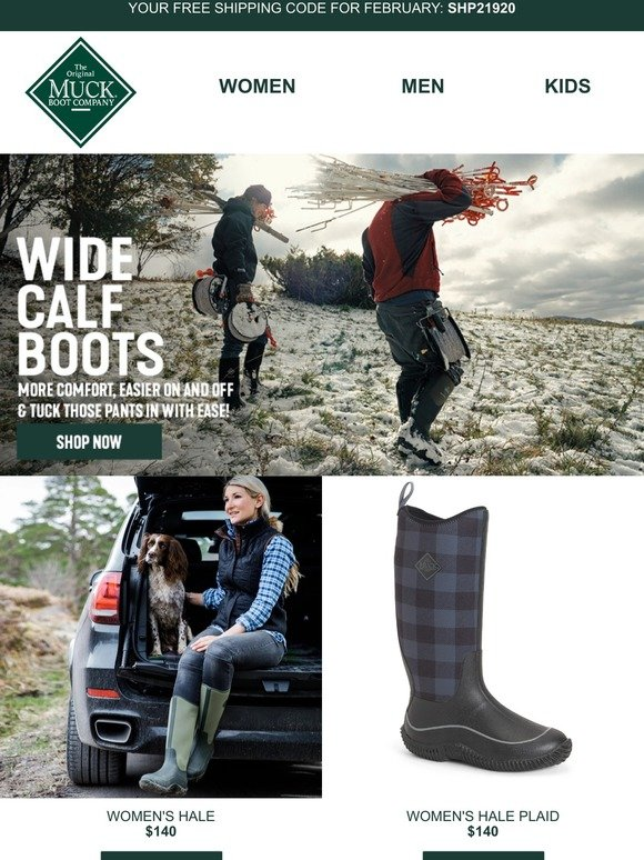 Muck Boot Company CA: Tuck your pants