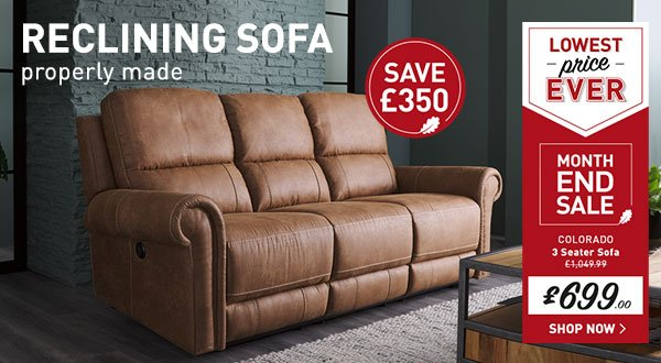 Oakfurnitureland: Relax. At These Sofa Prices, You Can Afford To!   Milled