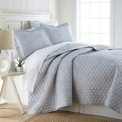 Thirsa 3 or 2 Piece Comforter Set Ultra Plush Micro Mink Criss Cross Pinch Pleat