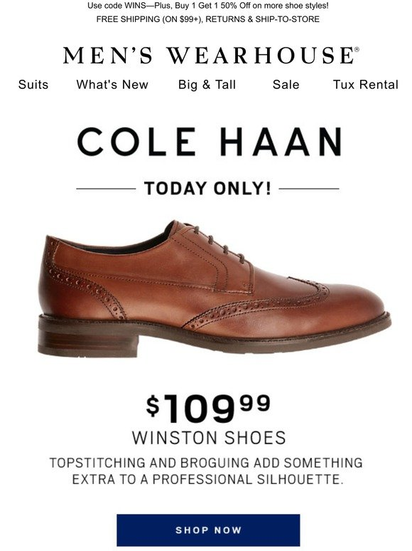 Only! $109.99 Cole Haan Winston derbys