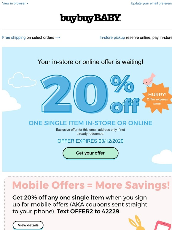 buy buy baby coupon code