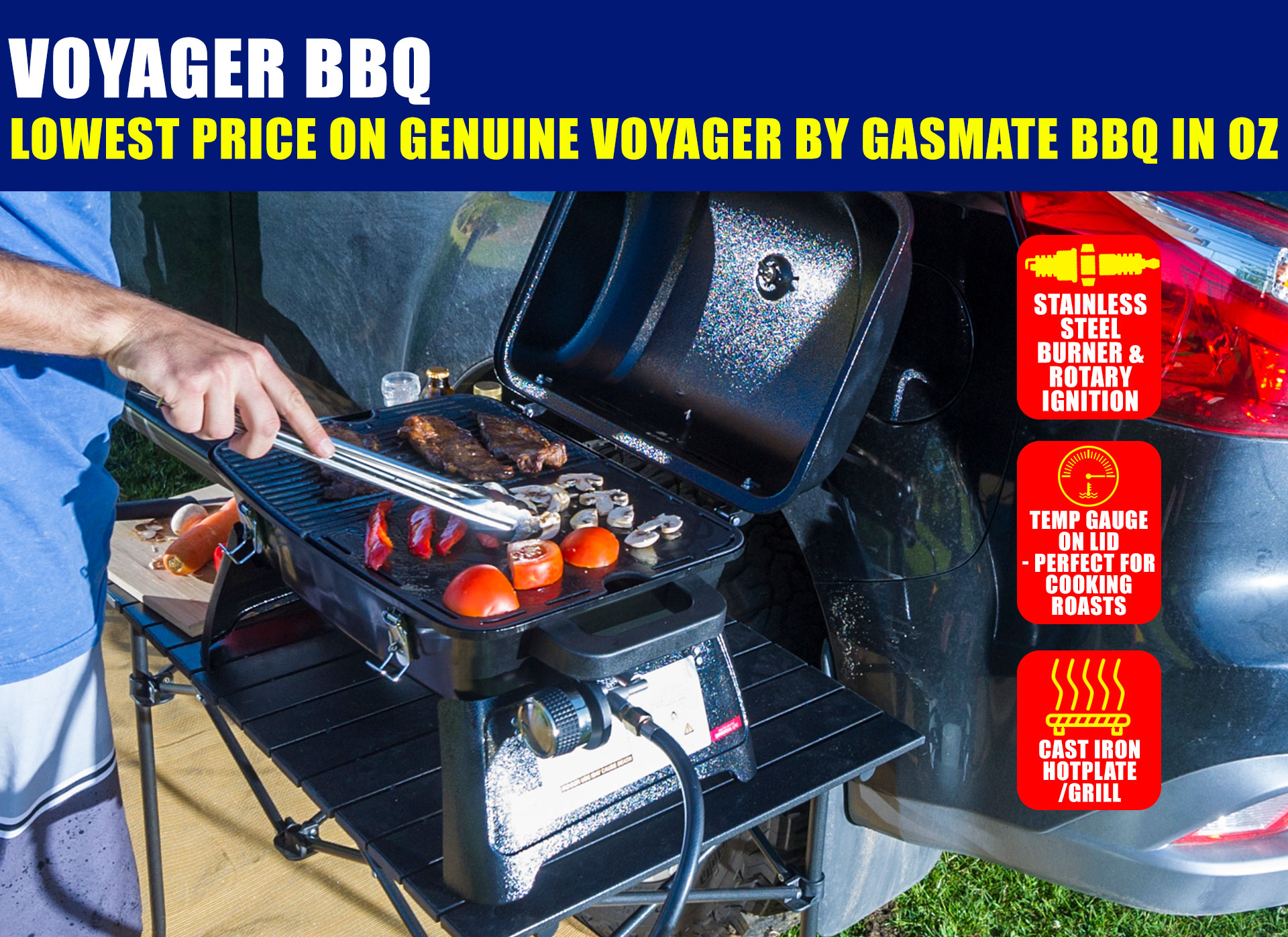 Gasmate Voyager Portable Gas Bbq Review 4wd supacentre: hi, exclusive offer on a voyager bbq just