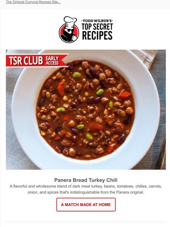Top Secret Recipes Inc New Hack Panera Bread Turkey Chili So Good Milled