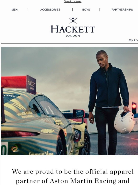 Hackett London Introducing The New Collection From Aston Martin Racing Milled