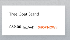 Displaysense Scandi Coat Stand Brown