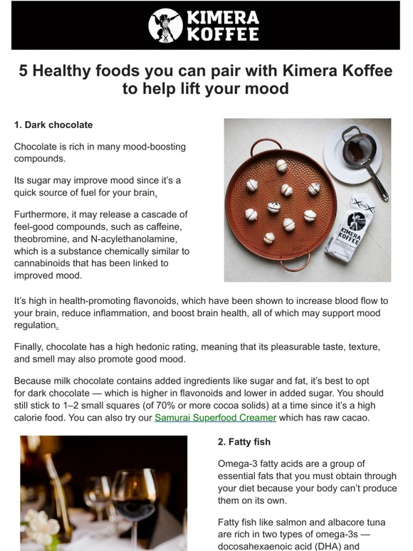 Kimera Koffee Llc 5 Healthy Foods To Pair With Your Kimera Milled