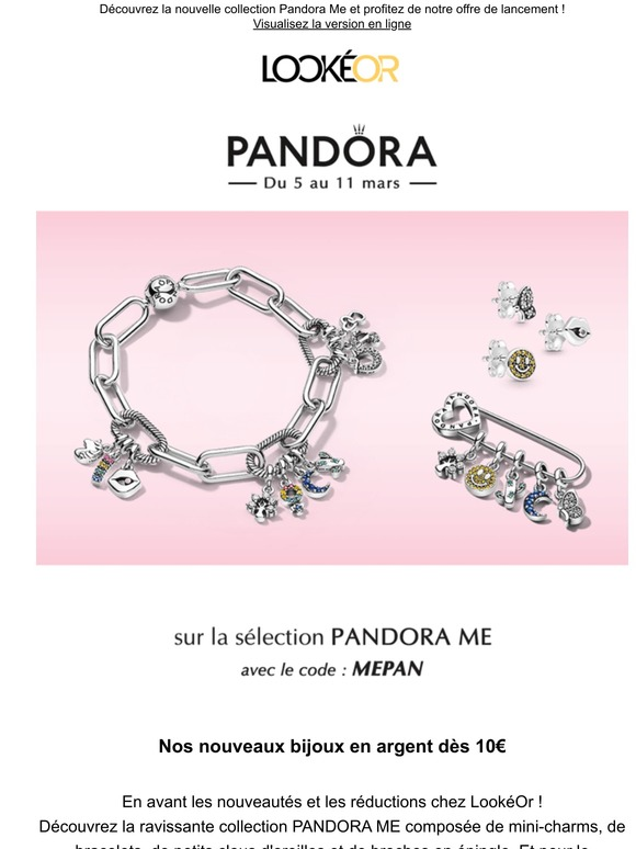 Lookeor.com: Pandora nouveautés à -25% ✨ | Milled