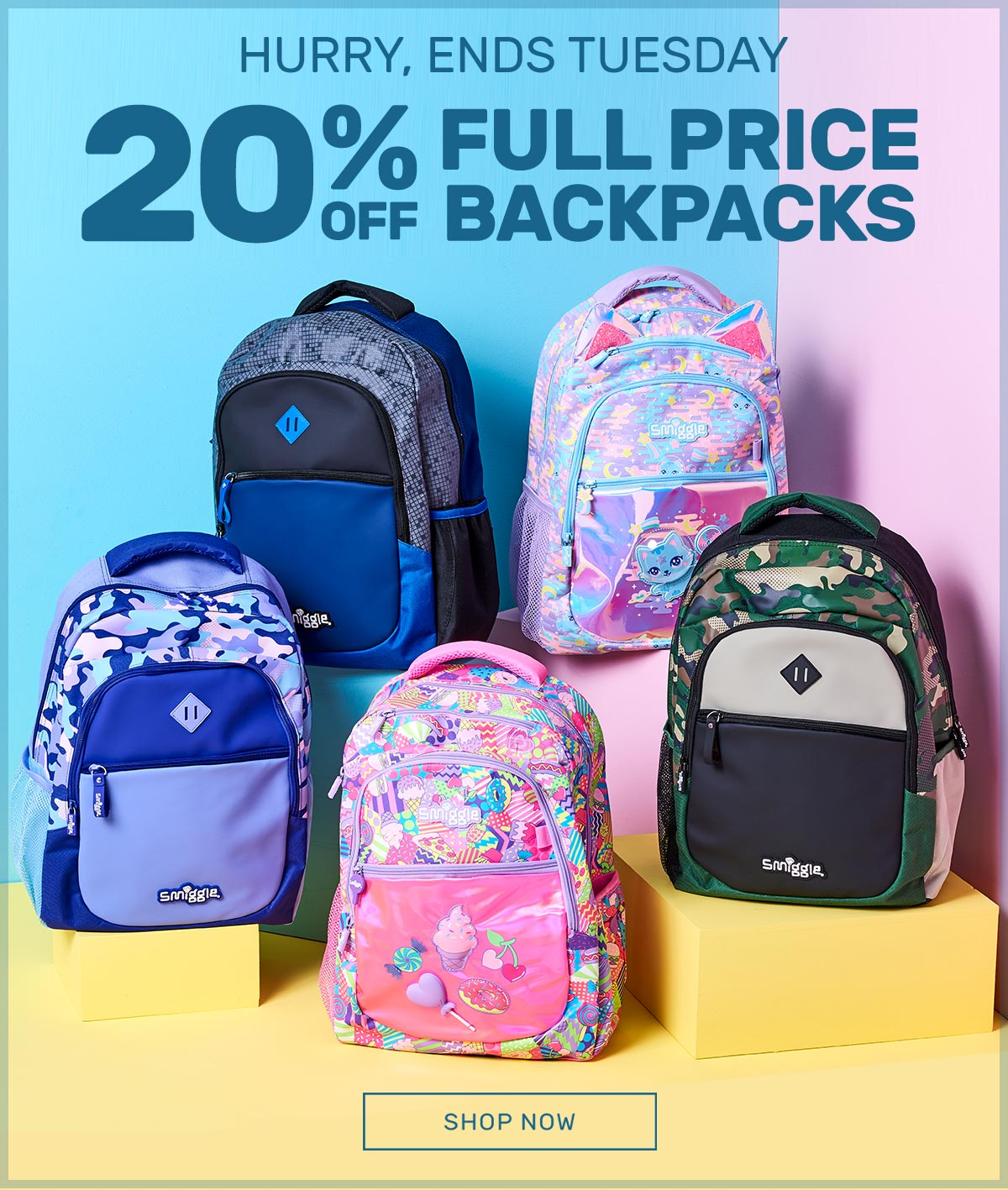 Smiggle carsJunior Backpack grey new plus free gifts Perfect Gift!