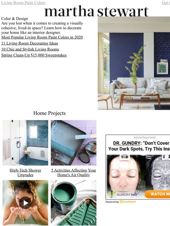 Martha Stewart Most Popular Living Room Paint Colors In 2020 Milled