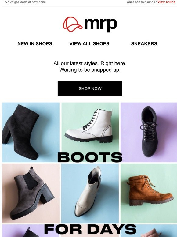 MRP: In the mood for new boots?👢 | Milled