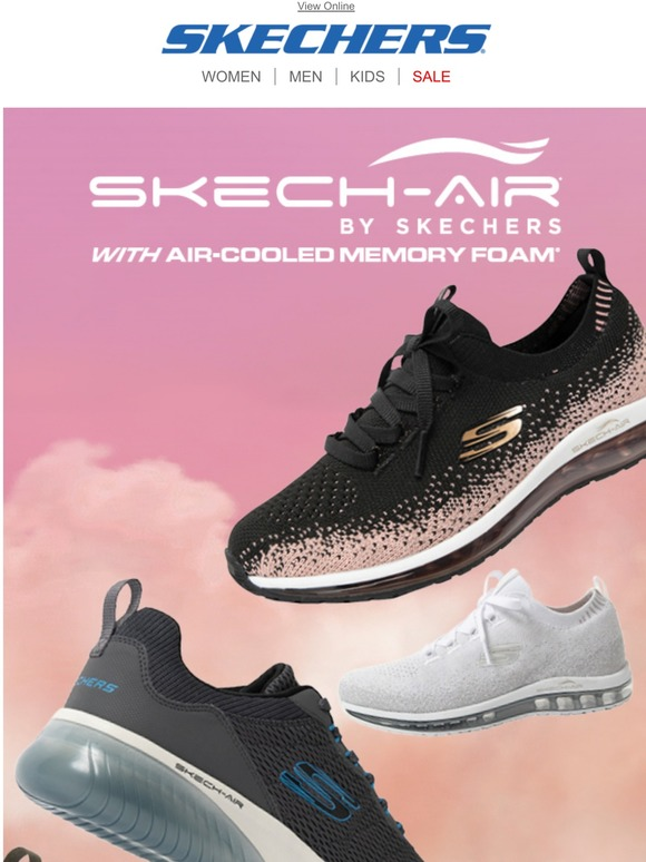 skechers air-cooled memory foam