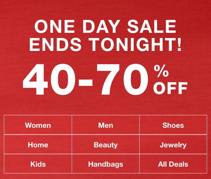 Macy's: Deals Of The Day 40-70% off