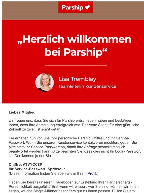 Mitglieder für parship login Michverlieben de