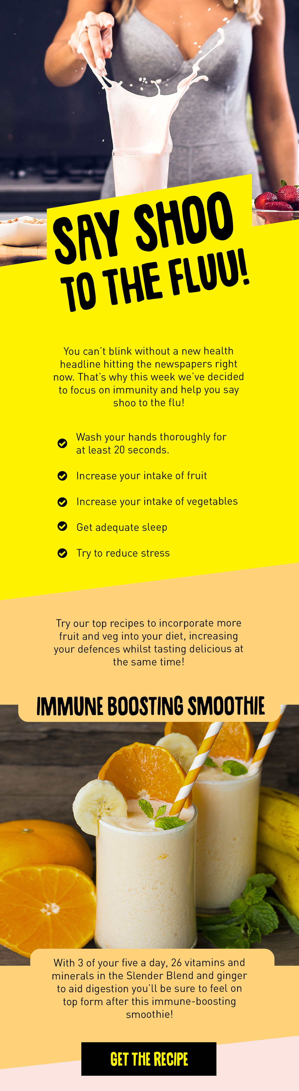 Protein World Say Shoo To The Flu Our Favourite Immunity Boosting Smoothie Recipes Milled