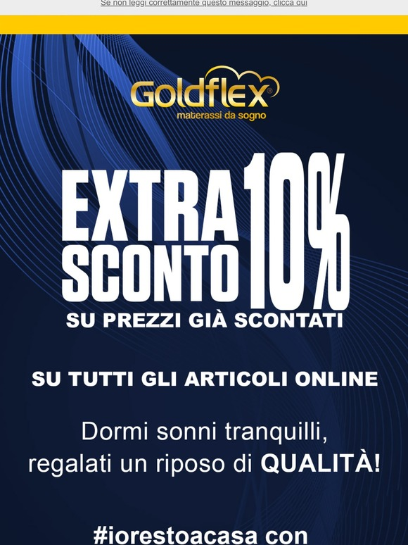 Goldflex Materassi.Goldflex It Email Newsletters Shop Sales Discounts And Coupon Codes