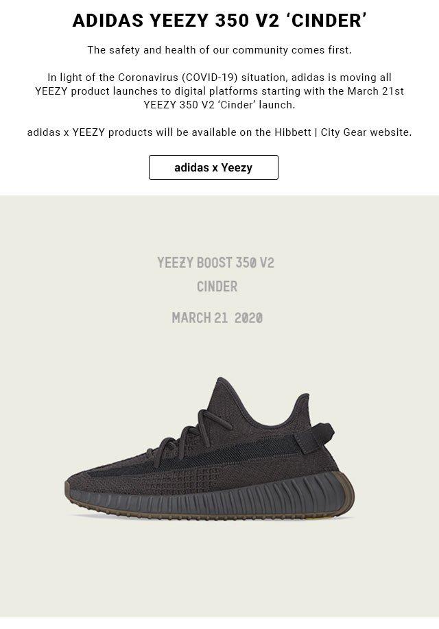 adidas Yeezy 350 V2 'Cinder' drops