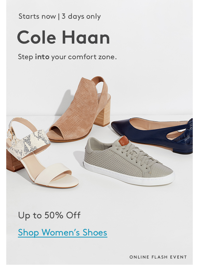 Cole Haan Event starts now