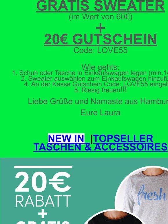 GRATIS Sweater + 20€ Rabatt