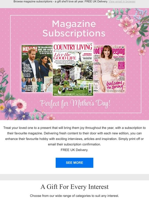 Whsmith Magazine Subscriptions Perfect Last Minute Gift Milled