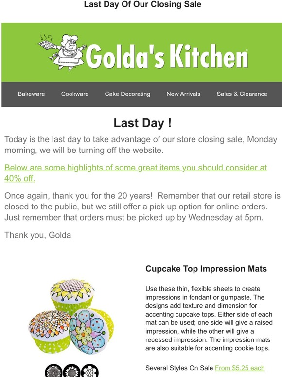 Golda S Kitchen Ca Store Closing Curiosities See What Great Savings Await Milled
