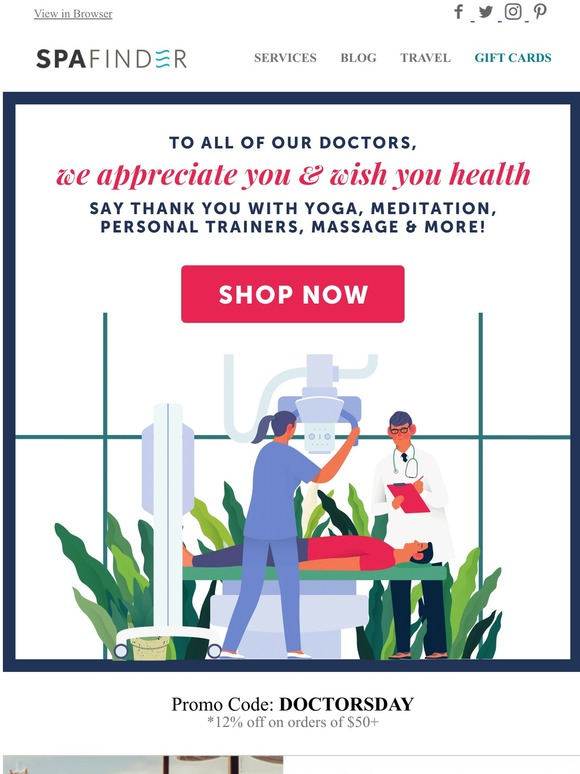 Spafinder Wellness 365 Gift Ahead This Doctor S Day Milled