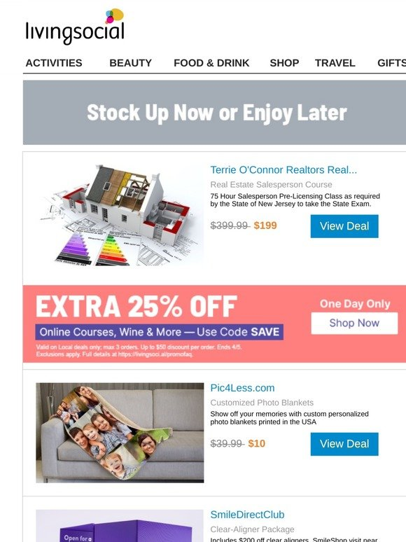 Livingsocial Email Newsletters Shop Sales Discounts And Coupon Codes Page 18