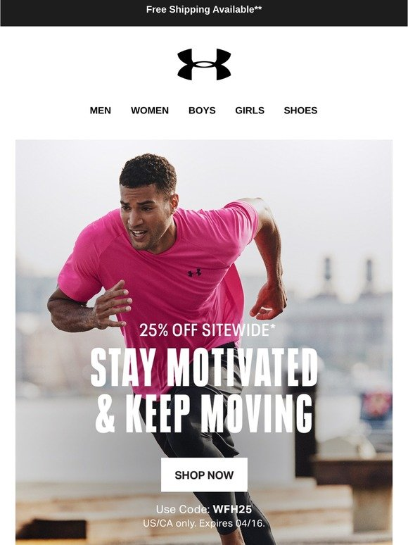 Gran cantidad de Sufijo Arrepentimiento  Under Armour (Indonesia) Email Newsletters: Shop Sales, Discounts, and  Coupon Codes - Page 7