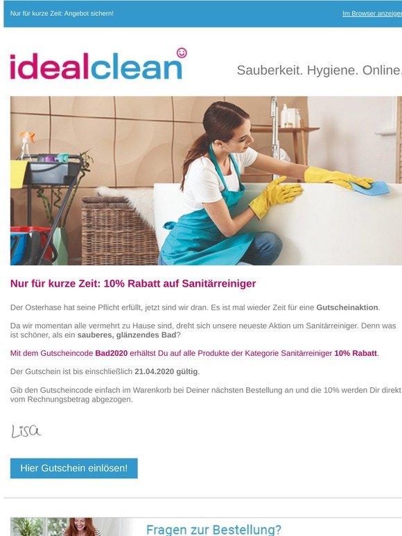 Schnell sein: 10% Rabatt auf Sanitärreiniger