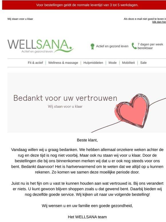 Goede Wellsana.nl: Bedankt voor uw vertrouwen, beste klant.   Milled MH-43