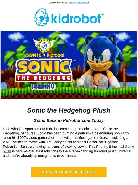 Kidrobot Sonic The Hedgehog Spins Back To Kidrobot Com Milled