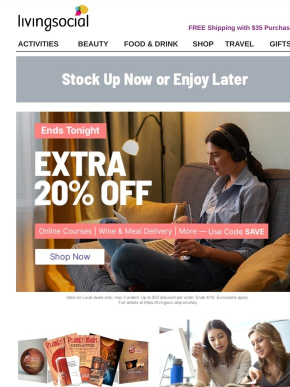 Livingsocial Email Newsletters Shop Sales Discounts And Coupon Codes Page 5