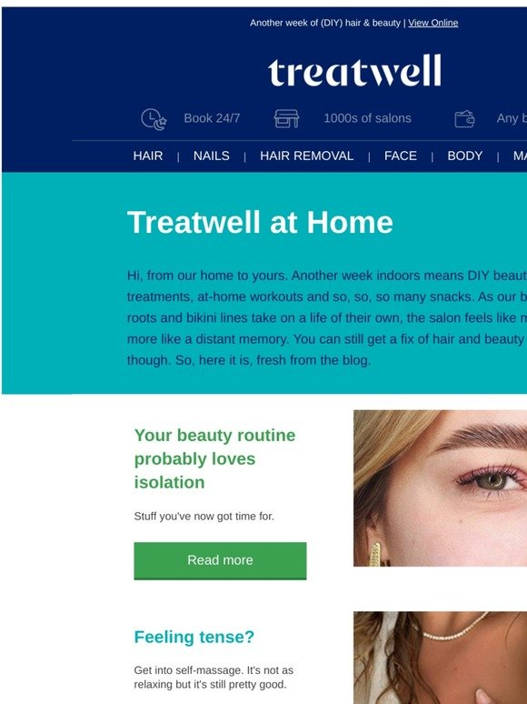Treatwell Treatwell At Home Your Isolation Beauty Rituals Milled