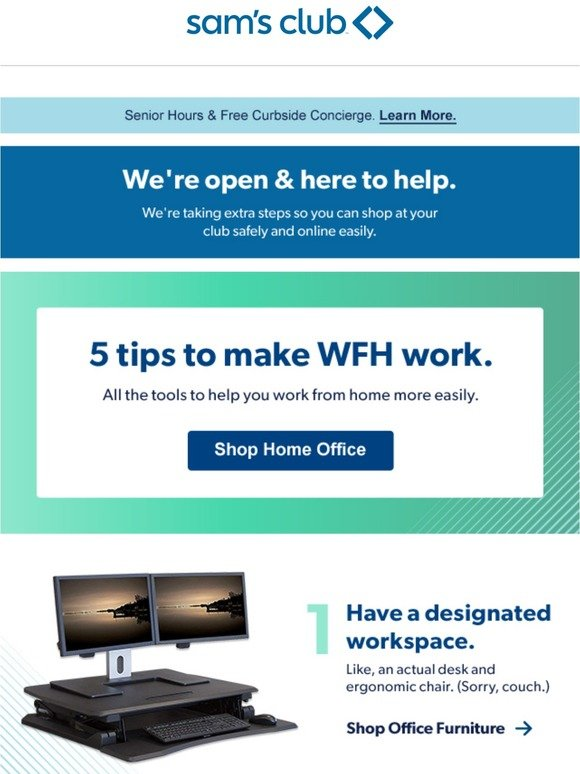 Sam S Club Wfh Same Here S Some Stuff To Help Milled