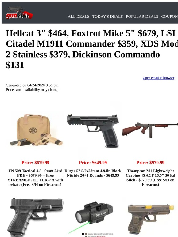 Gun Deals Email Newsletters Shop Sales Discounts And Coupon Codes