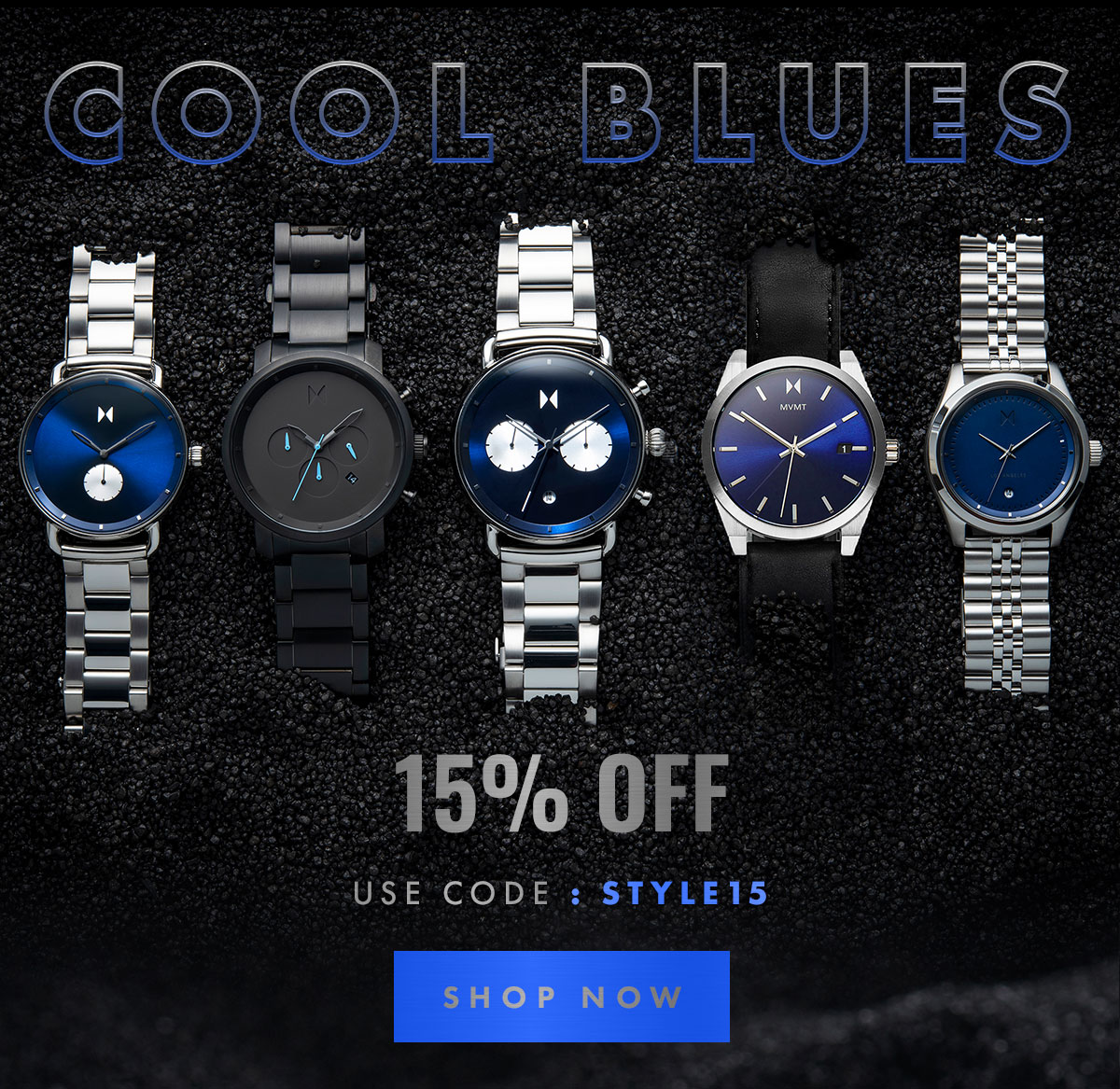 Mvmt On Sale Cool Blues Milled