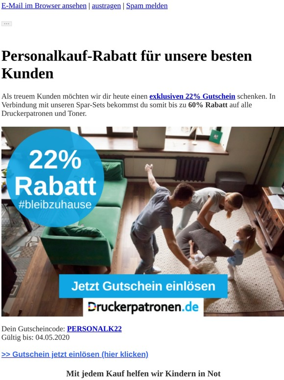 ⚠️22% Personalkauf-Rabatt + Gratisversand