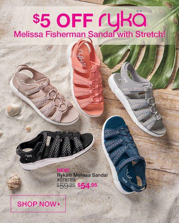 $5 off Ryka® Melissa Fisherman Sandal