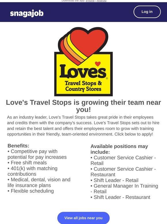 Snagajob Essential Job Alert Love S Travel Stops Is Hiring Near New York Milled
