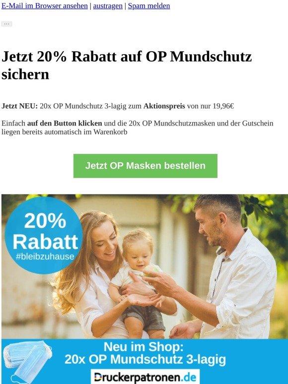 ⚠️20% Rabatt auf OP Mundschutz + Gratisversand
