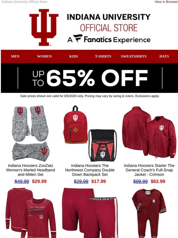 Indiana University Hoosier Baby and Toddler Snap Hooded Jacket